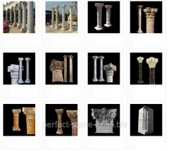 Columns from marble