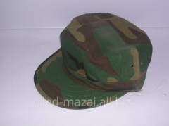 The cap is camouflage