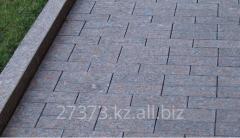 The stone blocks is sidewalk
