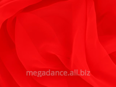 Fabric for ball luxury georgette fluorescent red