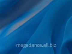 Fabric for ball luxury georgette electric blue