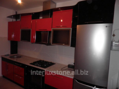 Complete Kitchen with facades from MDF in a metal