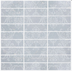 Tile of Arabesque Azul Macaubas Glass