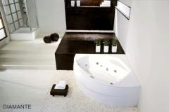 Bathtubs angular POOLSPA, Bathtubs acrylic