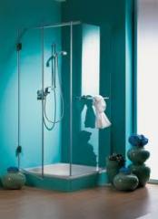 Angular shower cabins, angular shower cabins in