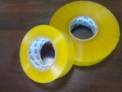 Packaging adhesive tape yellow