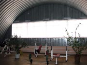 Frameworks metal for greenhouses and hangars