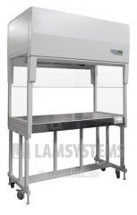 The laminar-flow cabinet with vertical flow of air