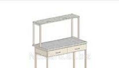 Shelf metal desktop M-1, 975 mm