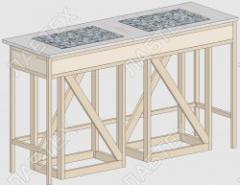 Стол для весов СВ-12, 1470*610*900 антивибрационный, две плиты