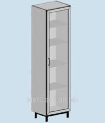 Шкаф для лабараторной посуды ТШ-102, 420*420*1700, стеклянная дверца