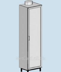 Шкаф для химреактивов ТШ-101В, 420*420*1700 с вытяжным патрубком, металл. дверь