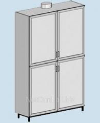 Шкаф для химреактивов ТШ-302В, 1200*500*2000 с вытяжным патрубком, 4 дверцы
