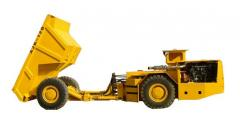 Dump trucks for underground works