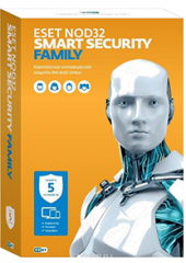 Новинка!  ESET NOD32 Smart Security Family   (5