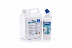 Detergent for washing of toilet bowls and urinals,