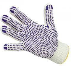 Перчатки рабочие, перчатки хлопчатобумажные с ПВХ