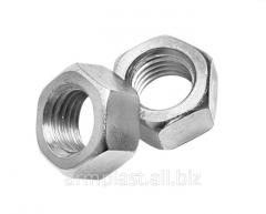 Galvanized nut DIN 934.