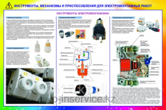 The poster Tools for electric installation work of