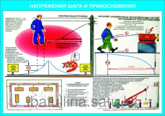 Poster Electrical safety in two languages E.69