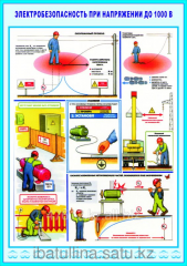 The poster Electrical safety at a voltage up to