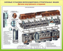 Poster Power plants of railway and construction