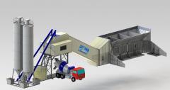 Бетонный завод HZS60 производительностью 60