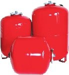Membrane tanks for systems of heating and water