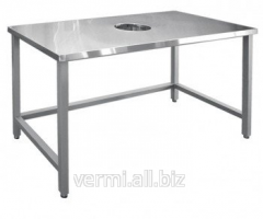 Table for collecting waste of SSO-1 all stainless