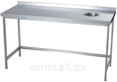 Table for collecting waste with SPO 2000х600х850