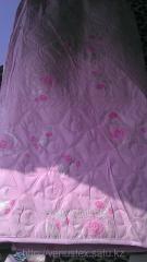 Летнее одеяло 1,5 и 2 спальное  Серебряная роза
