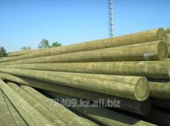 High voltage line support wooden L 6 m, D 16-18 cm