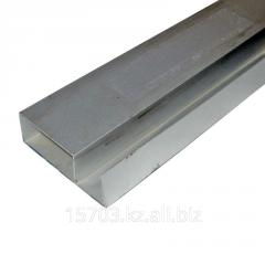 Pipe of aluminum rectangular 20х40х20х0,9х6000 mm,