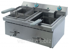 The deep fryer is two-section