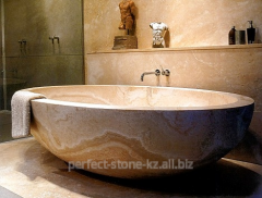 Bathtub from a natural stone