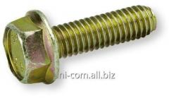 Bolt with a six-sided head and a flange of DIN
