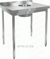 Table corrosion-proof wall with board for