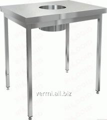 Table corrosion-proof for collecting waste of