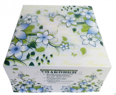 Box for Spring cake, the size 20kh20kh10sm