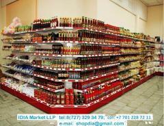 Витрины, Стеллажи для магазина супермаркета