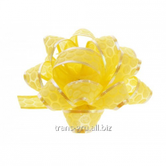 Bow star No. 5 Honeycombs, color yellow