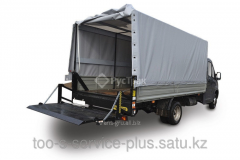 Hydraulic board on commercial pass trucks