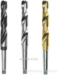 Spiral drills with tapered shank of TIZ (Russia)