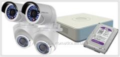 Set of HD TVI Hikvision DS-J142I of video
