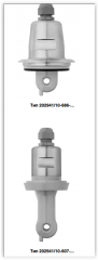 Inductive sensor for conductivity and temperature