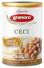 Bean in tin container of Ceci