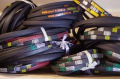 Belts, Belts driving maple