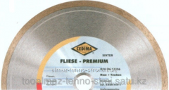 Disk diamond for cutting of stone of Fliese