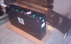 Batteries on carts of the EJE220, 225, 230, 235