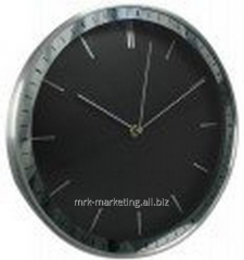 Aluminum wall clock 304mm 12, black dial 03.709.99